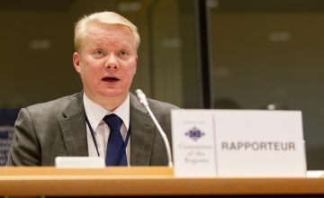 Brussels - Belgium - Januari 27, 2011 - Committee of the Regions - 88Th Plenary Session - Rapporteur Ossi Martikainen