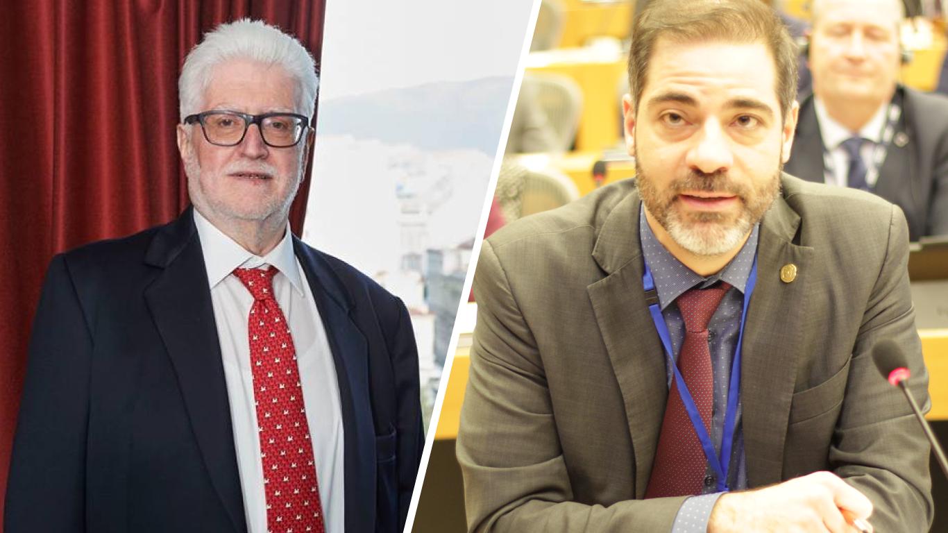Mayor Moses Elisaf and Mayor Andreas Kondylis